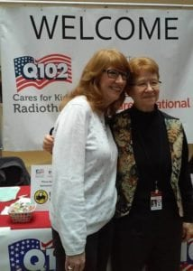 Christine Woodrum & Rosie with Q102 (Radio Personality).